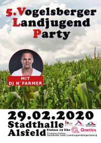 Landjugendparty Poster 2020